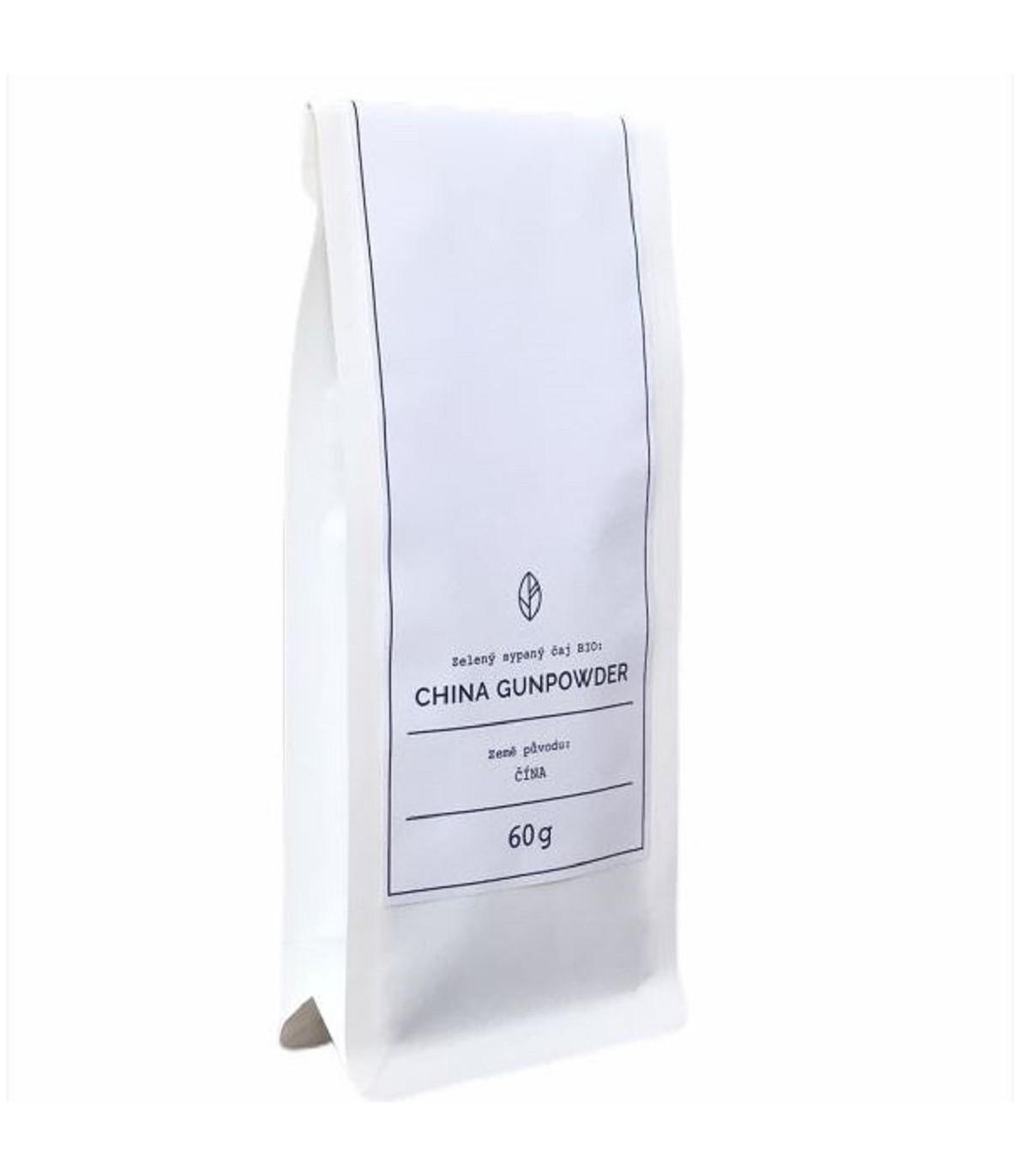 BIO - China Gunpowder Organic Tea - predaj zeleného čaju - 60 g