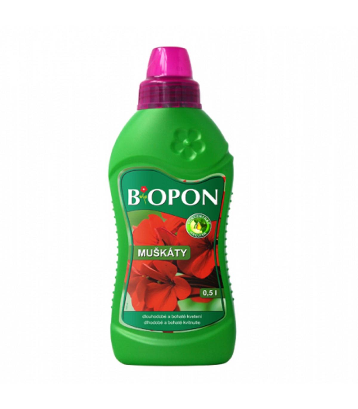 Kvapalné hnojivo pre muškáty - BioPon - 500 ml