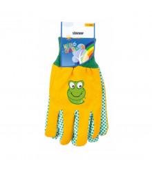 Pracovné rukavice detské Stocker - žlté - 1 pár