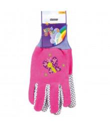 Pracovné rukavice detské Stocker - ružové - 1 pár