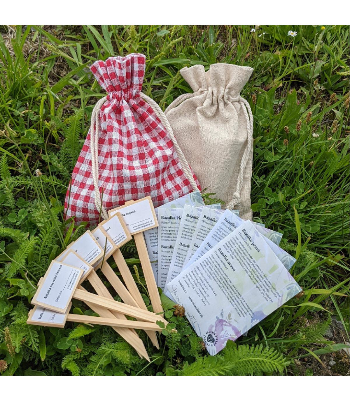 Balíček bazaliek do kuchyne - 7 druhov - darčekové balenie zadarmo - predaj semien